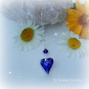 Swarovski Purple Heart Necklace