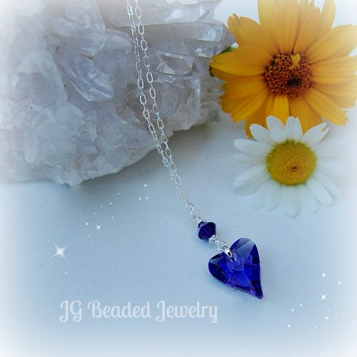 Swarovski Purple Heart Necklace
