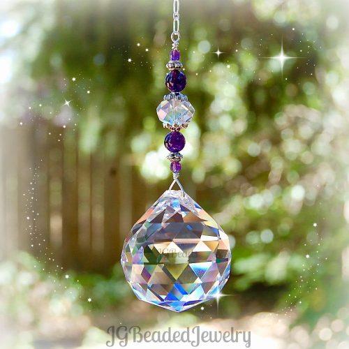 Amethyst Prism Suncatcher