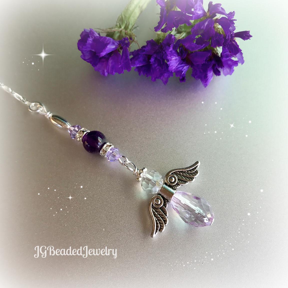 Purple Amethyst Guardian Angel