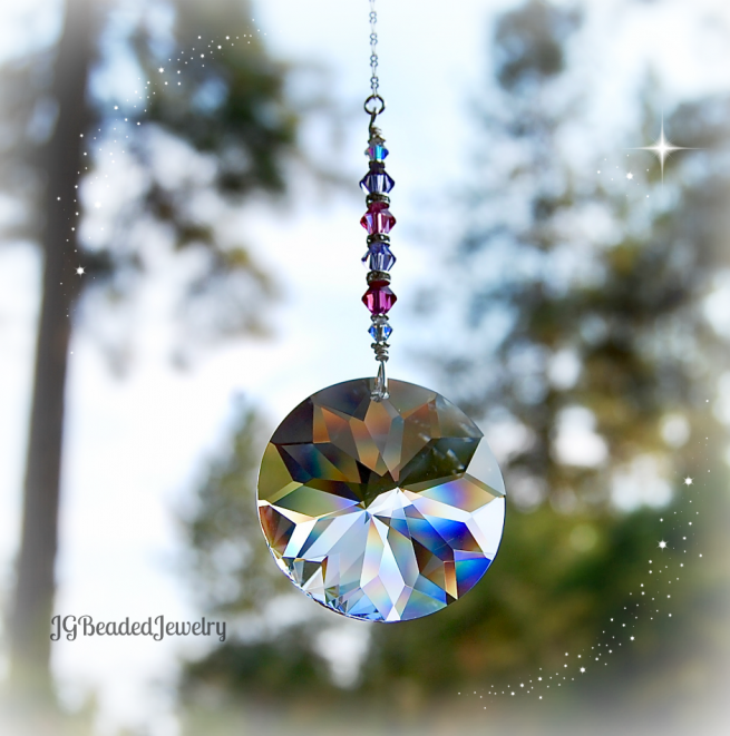 Pink and Purple Suncatcher