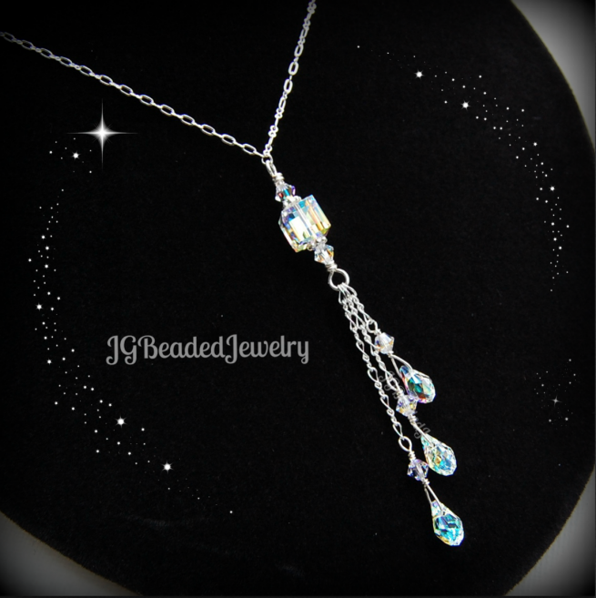 Teardrop Swarovski Crystal Necklace