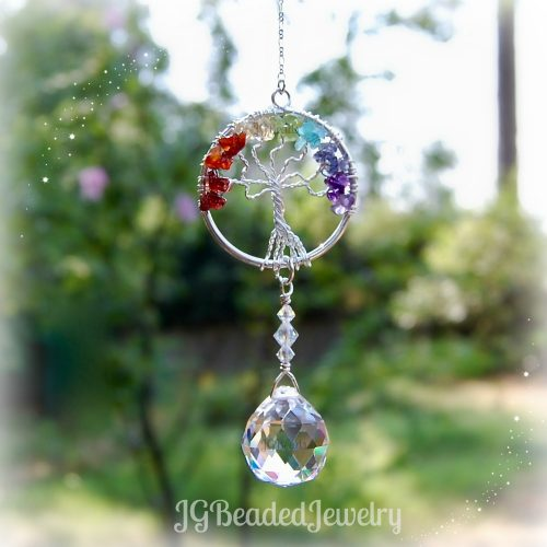Tree of Life Rainbow Suncatcher