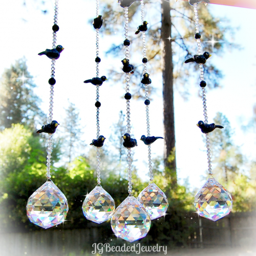 Blackbird Crystal Suncatcher