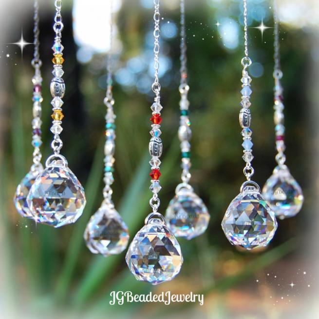 Ladybug Crystal Suncatchers