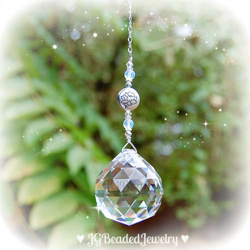 Lotus Crystal Suncatcher