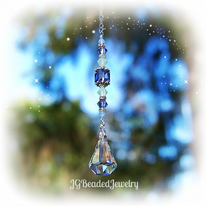Swarovski Raindrop Prism Crystal Suncatcher