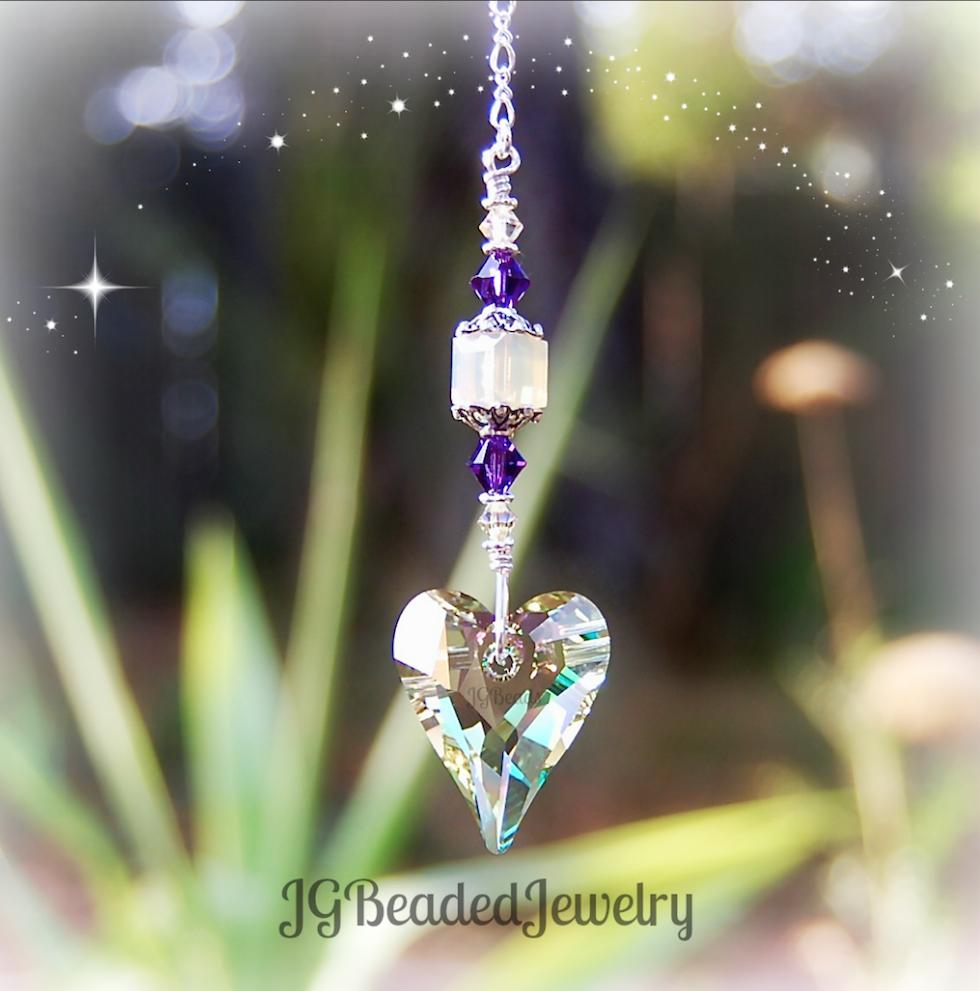 Swarovski Wild Heart Crystal Suncatcher