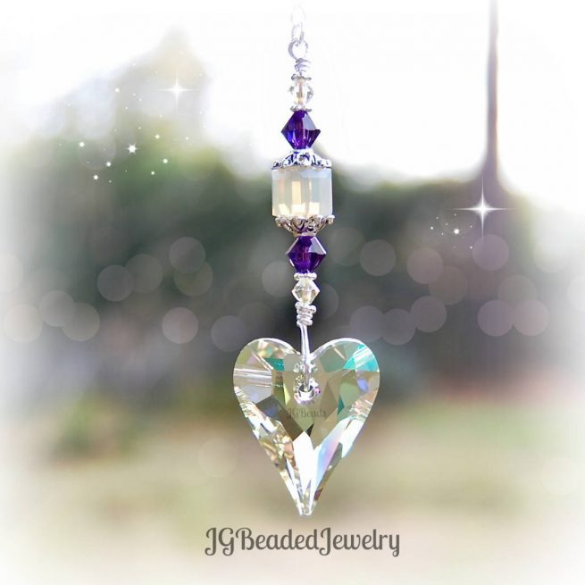 Wild Heart Swarovski Crystal Suncatcher