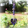 Amethyst Purple Swarovski Heart