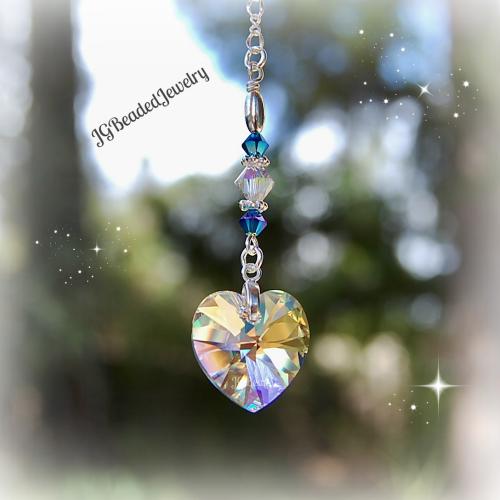 Swarovski Crystal Heart Decoration