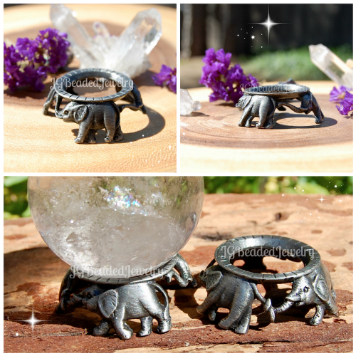 Crystal Ball Elephant Stand