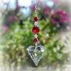 Swarovski Hanging Heart Crystal Suncatcher