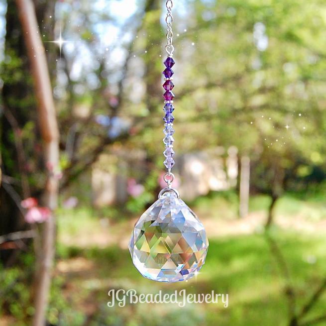 Purple Rain Prism Suncatcher