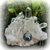 Winged Heart Quartz Crystal Necklace