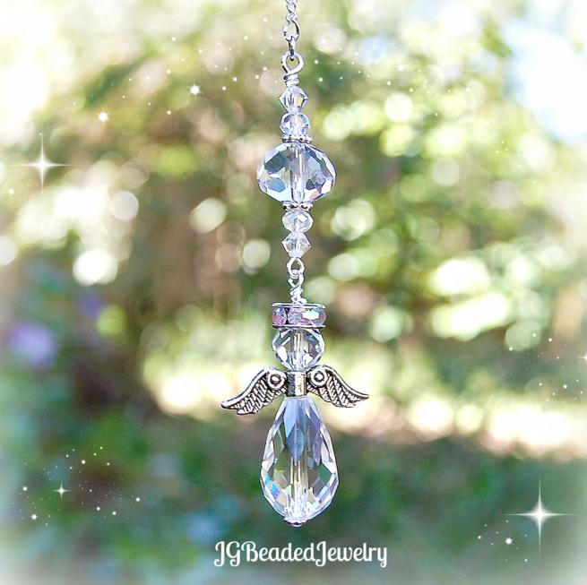 Guardian Angel Crystal Decoration