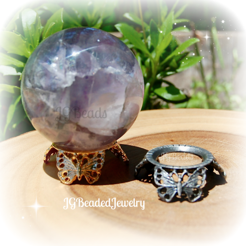 Butterfly Crystal Ball Stand