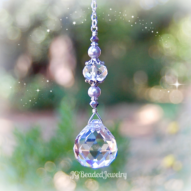 Purple Pearl Prism Suncatcher