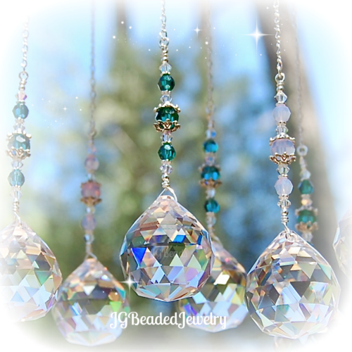 Emerald Green Crystal Suncatcher