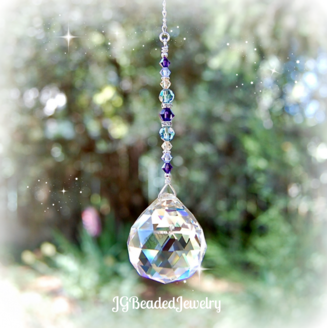 Gold Crystal Suncatcher