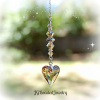 Golden Topaz Swarovski Heart