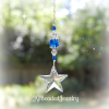 Blue Swarovski Crystal Star Suncatcher