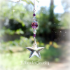 Purple Swarovski Crystal Star Suncatcher