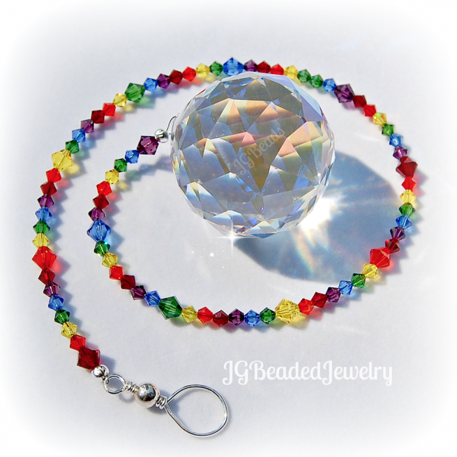 Large Swarovski Rainbow Prism Crystal Suncatcher