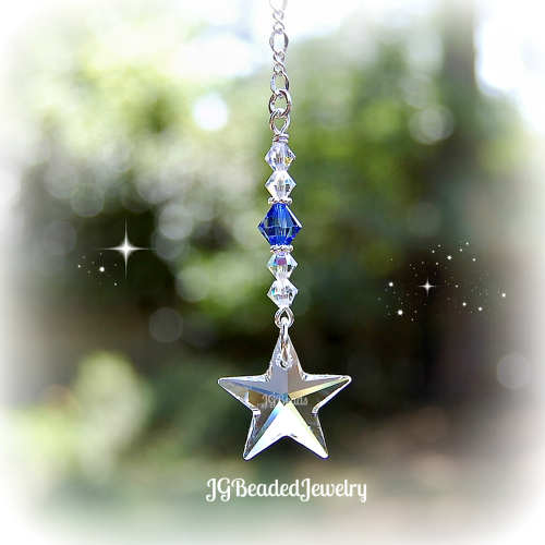Blue Swarovski Crystal Star