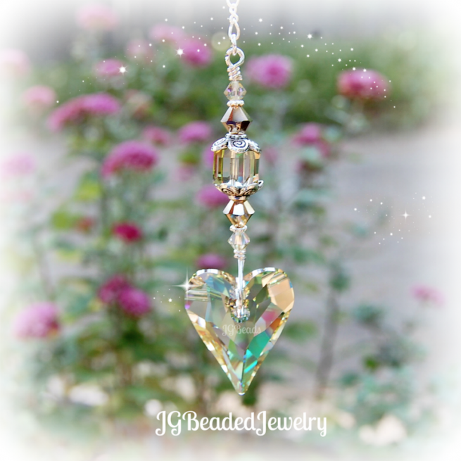 Swarovski Crystal Heart Suncatcher Decoration