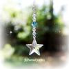 Turquoise Swarovski Crystal Star Ornament