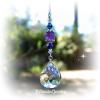 Amethyst Iris Crystal Suncatcher