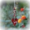 Red Heart Topaz Swarovski Crystal Suncatcher