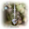 Clear Swarovski Crystal Heart Suncatcher