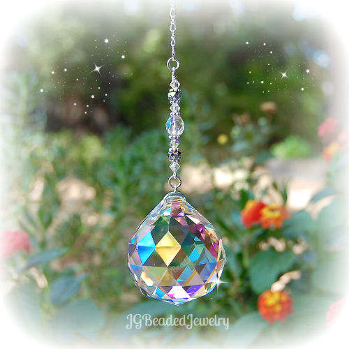 Large Rainbow Crystal Suncatcher