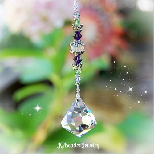 Diamond Swarovski Crystal Suncatcher