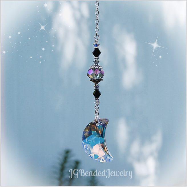Swarovski Moon Crystal Suncatcher