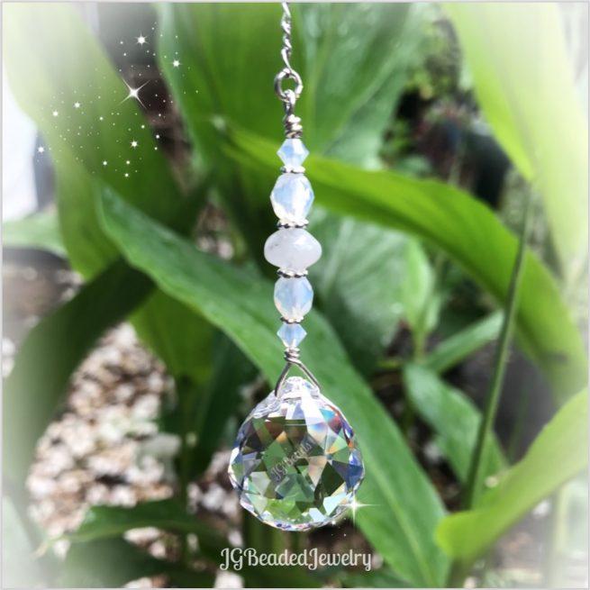 Moonstone Opal Crystal Suncatcher