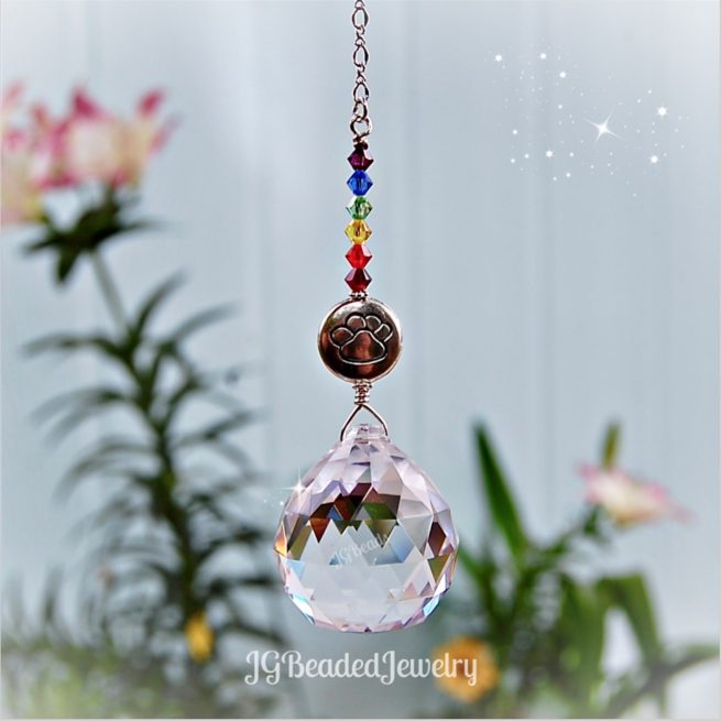 Rainbow Bridge Prism Crystal Suncatcher