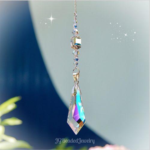 Swarovski Teardrop Prism Crystal Suncatcher