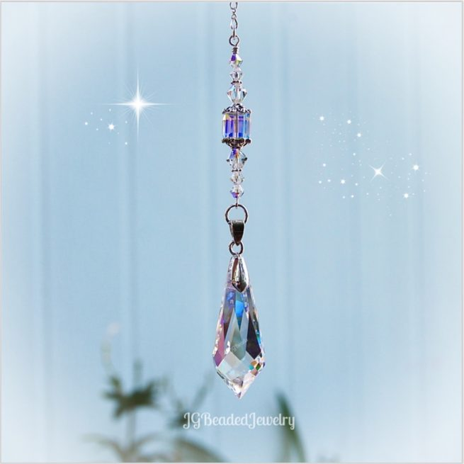 Swarovski Teardrop Prism Crystal Suncatcher Prism