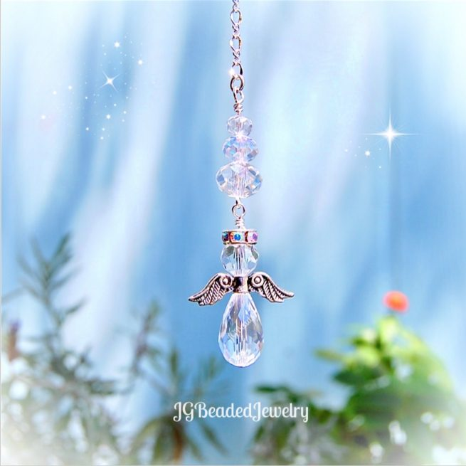 Crystal Crystal Guardian Angel Ornament