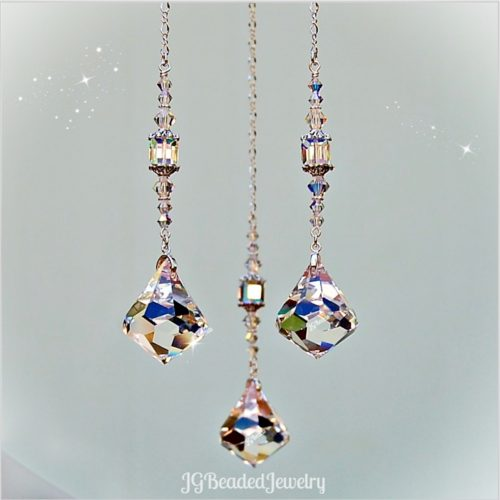 Diamond Swarovski Crystal Prism Suncatcher
