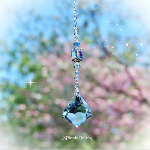 Diamond Swarovski Crystal Prism Suncatcher