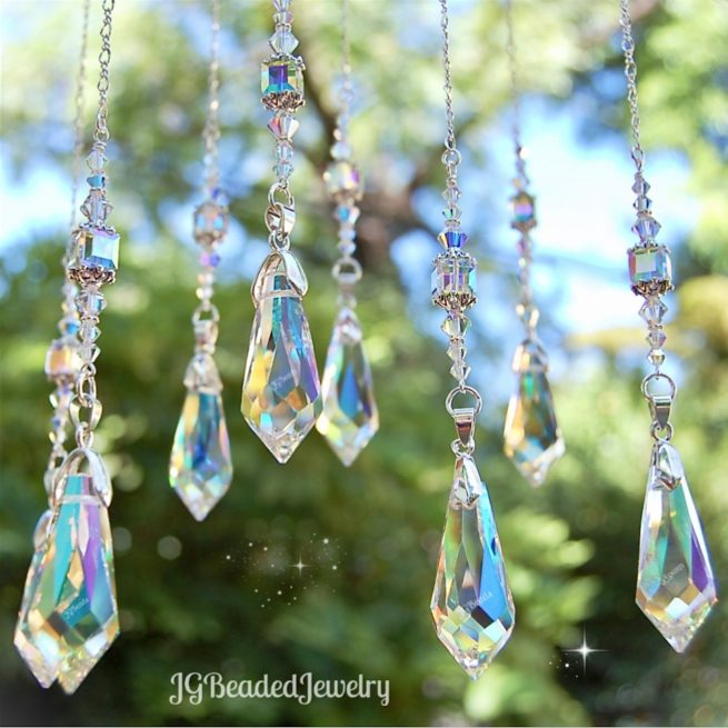 Hanging Crystal Swarovski Teardrop Suncatcher