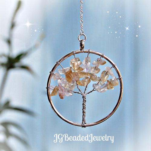 Citrine Quartz Gemstone Tree of Life