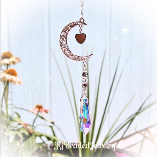 Love You To The Moon Crystal Suncatcher Decoration