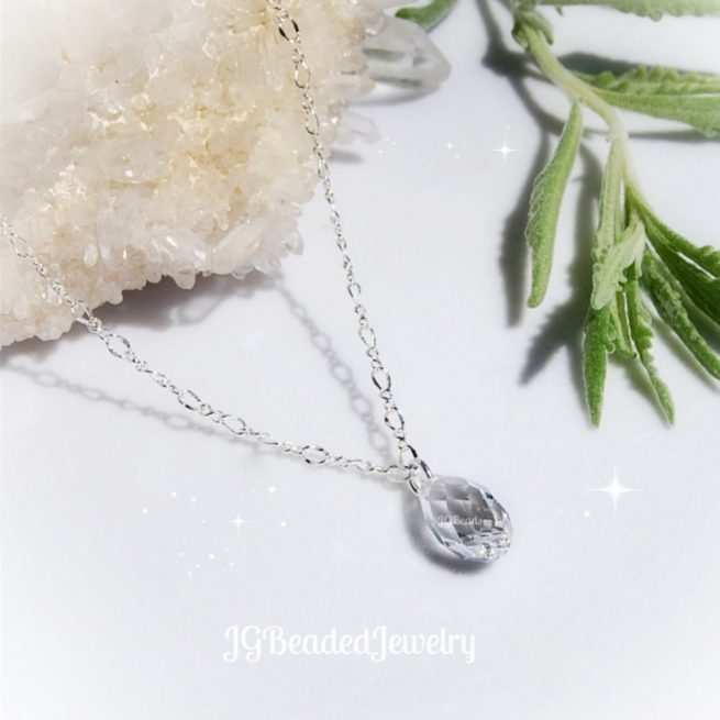 Swarovski Crystal Drop Necklace