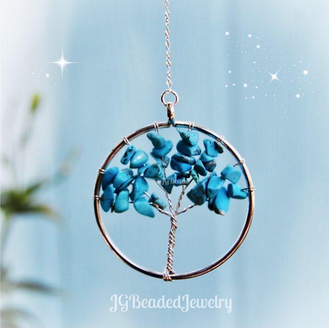 Turquoise Gemstone Tree of Life
