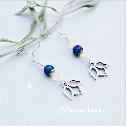 Lotus Swarovski Mood Bead Earrings